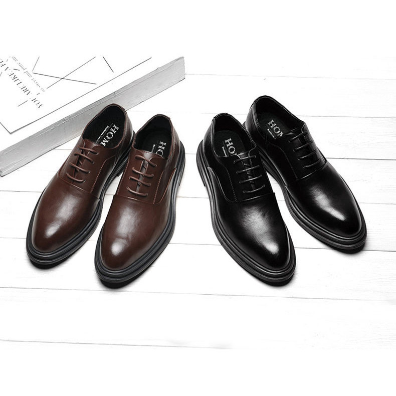 Homme Bristol - Classic Toe Oxford Italian Leather Dress Shoes