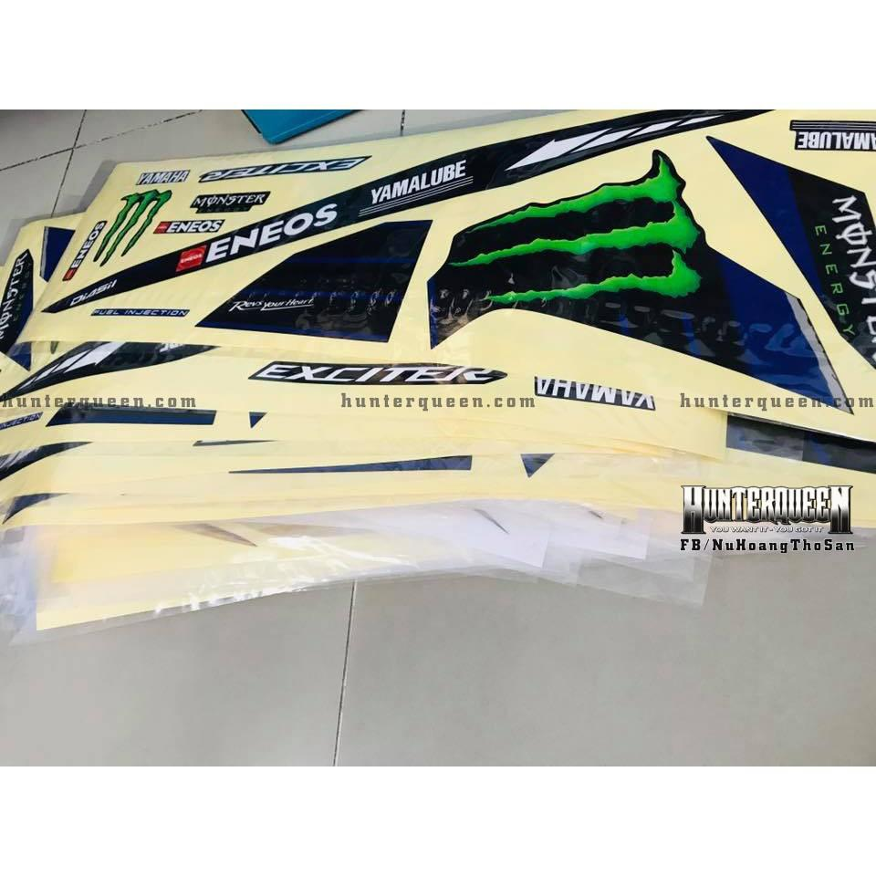 Tem uv ép nhiệt dành cho xe EXCITER 2011, MONSTER (bộ)