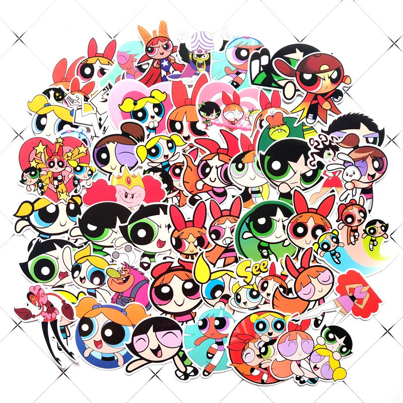 Set 60 Sticker The Powerpuff Girls