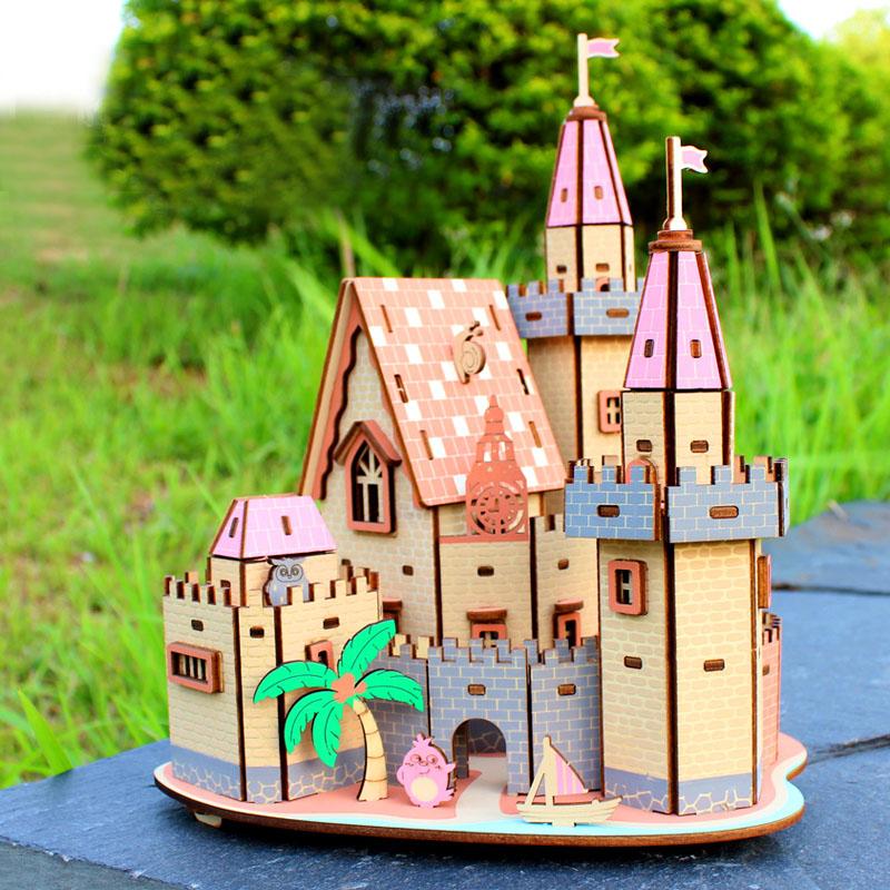 Đồ chơi lắp ghép gỗ 3D Mô hình Adventure Castle HD09