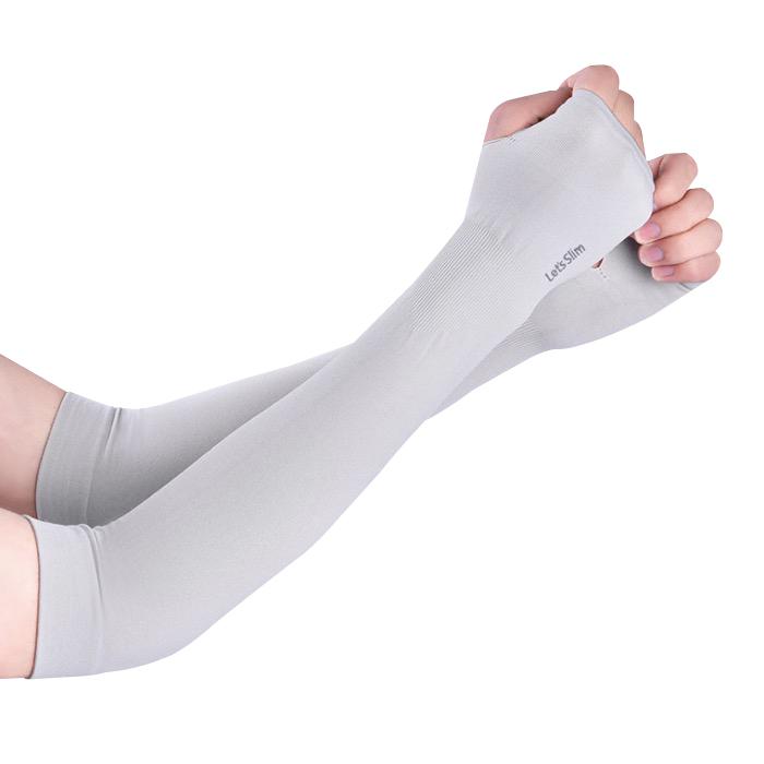 Găng tay chống nắng xỏ ngón Aqua-X Lets Slim Xám