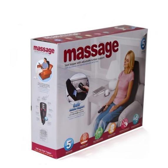 Lót Ghế Massage Toàn Thân - Chất Liệu Da PU, Giảm Đau Nhanh, Tinh Thần Thoải Mái Dùng Cho Ghế Xe Hơi Hoặc Văn Phòng - Nệ