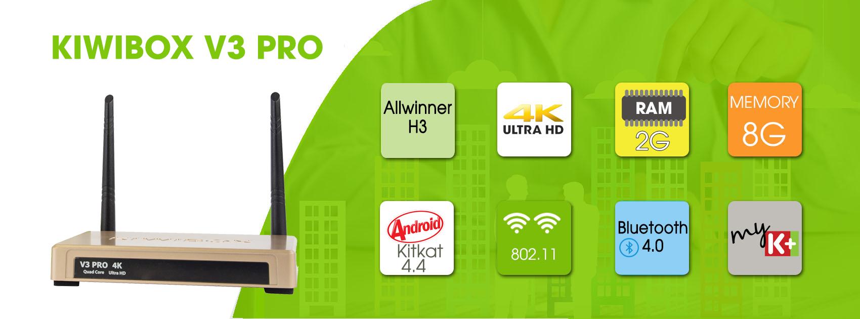 TIVI BOX KIWI V3 PRO - HÀNG CHÍNH HÃNG RAM2GB , Bluetooth 4.0
