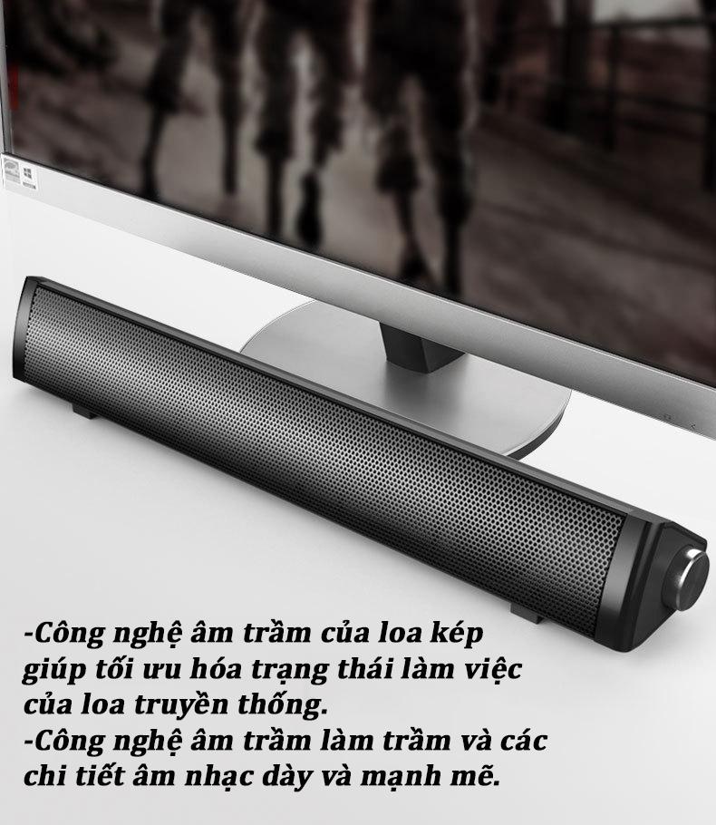 Combo Loa Vi Tính Thông Minh V-189 Hỗ Trợ Bluetooth, Kiểu Dáng Sang Trọng Cao Cấp + Tặng Chuột Bàn Phím Full Led Chuyên Game Cao Cấp