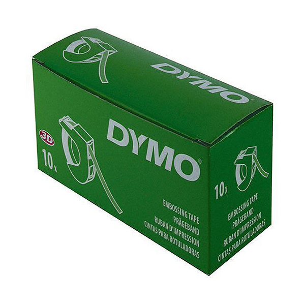Nhãn in Dymo 9mm x 3m xanh lá