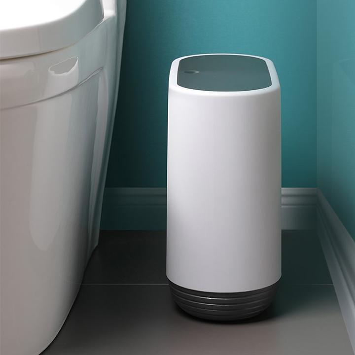 Thùng Đựng Rác Thông Minh Có Nắp Đậy - Thùng Rác Nhựa Nắp Nhấn Đóng Mở Chất Liệu Nhựa ABS Cao Cấp Dung Tích 10 Lít Dùng Cho Phòng Khách, Phòng Ngủ, Phòng Tắm, Nhà Bếp