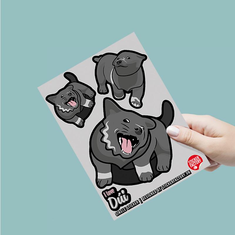 I love Dúi - Single Sticker hình dán lẻ