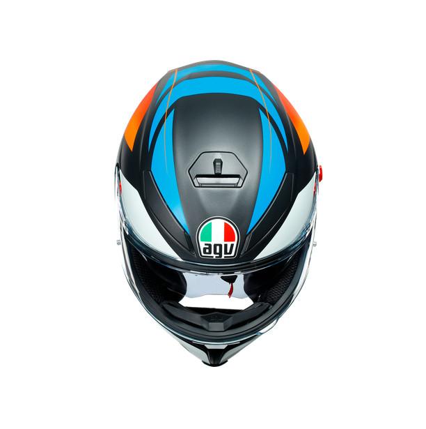 Nón Bảo Hiểm Fullface - AGV K5 S CORE MATT BLACK/BLUE/ORANGE - Hàng Nhập Khẩu Thương Hiệu Ý