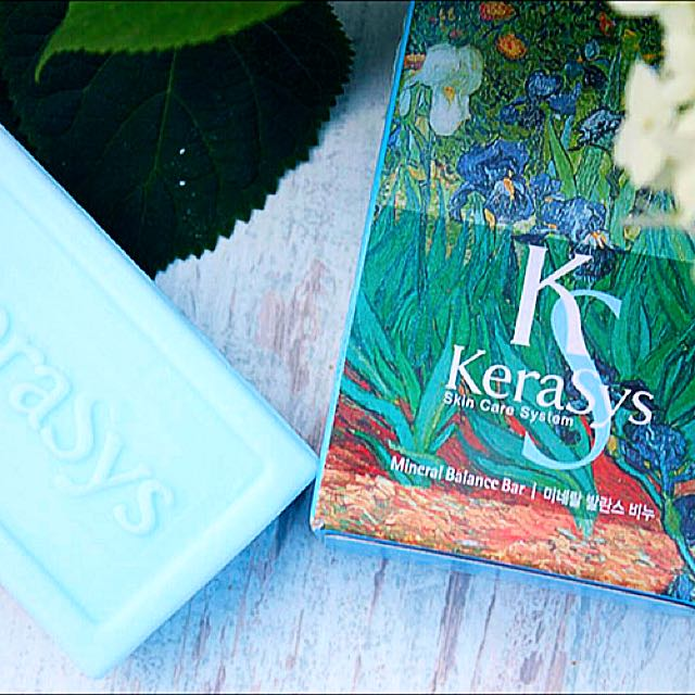 Xà bông tắm dưỡng da Kerasys Mineral Balance Bar Hàn Quốc 100g - Dành cho da dầu + Móc khoá