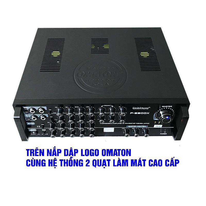 Amply Karaoke Bluetooth 16 sò lớn Omaton F-5200X - Hàng chính hãng