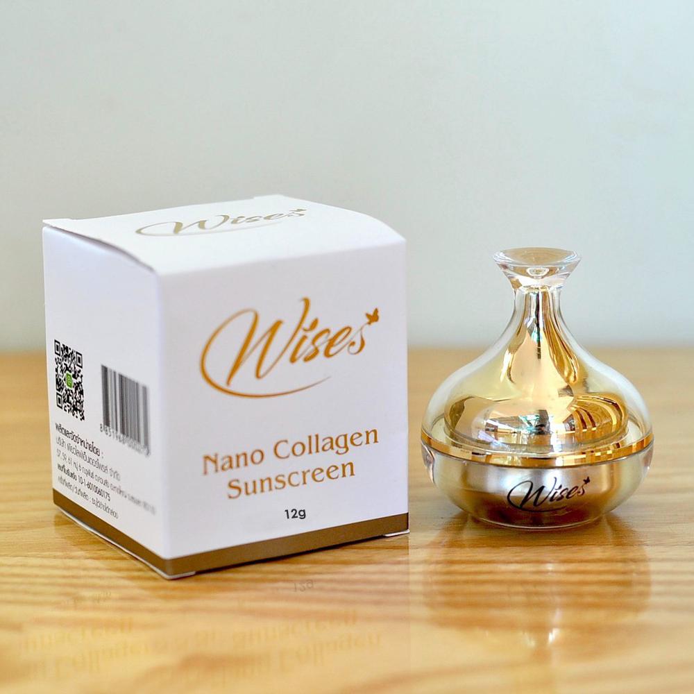 Kem Chống Nắng Che Khuyết Điểm WISE Nano Collagen Sunscreen 12g THÁI LAN