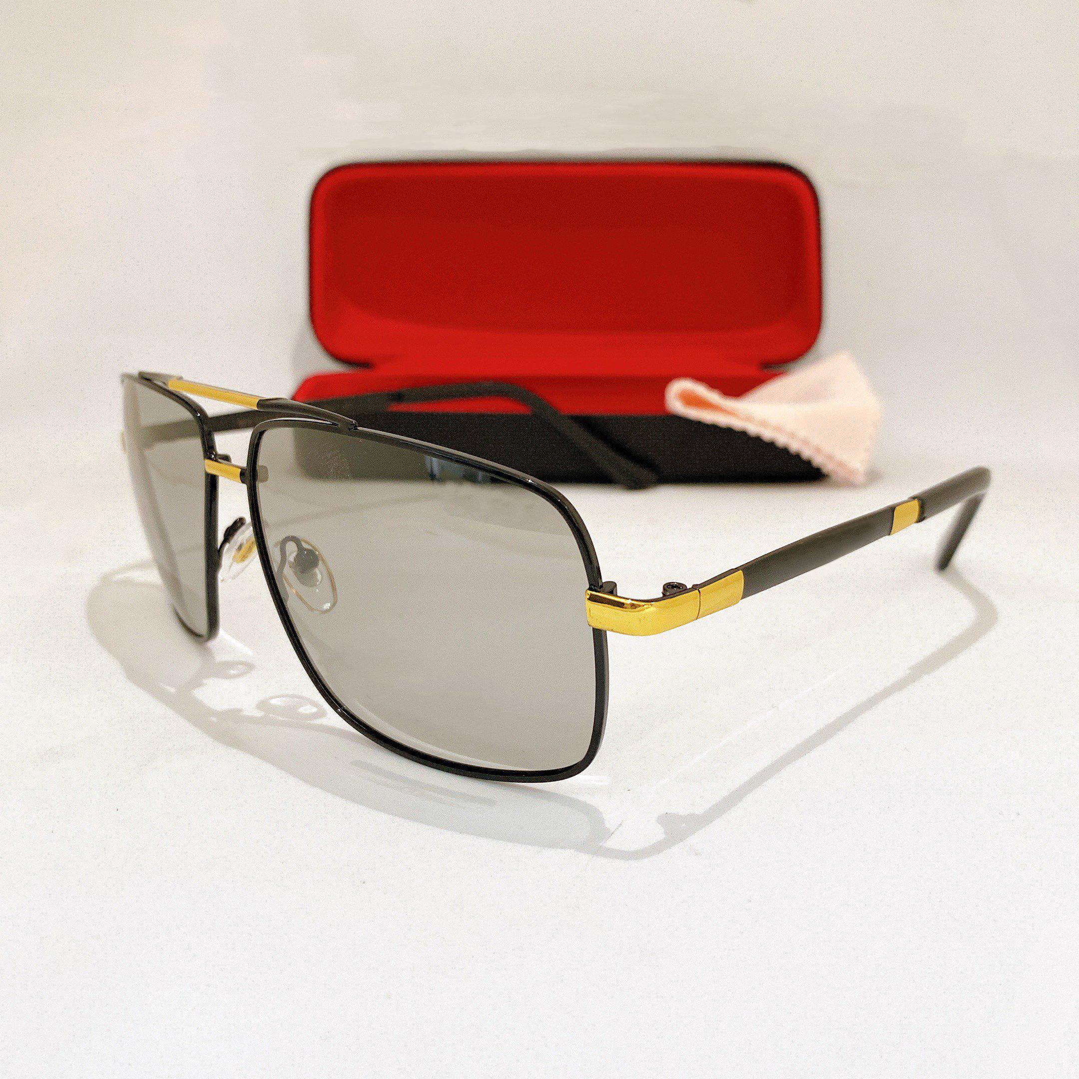 Mắt kính mát nam đổi màu dáng vuông độc đáo dùng cả ngày và đêm tròng Polaroid Jun Secrect BDBEN8601