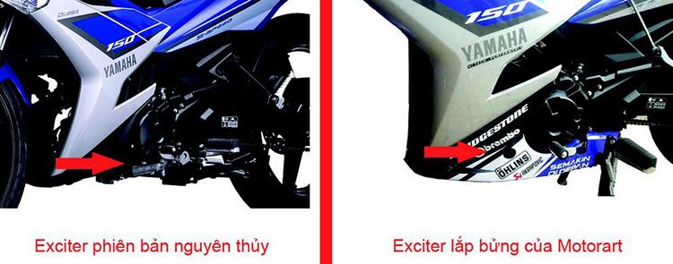 Mỏ Cày Trang Trí EXCITER 150 Motor Art (Xanh)