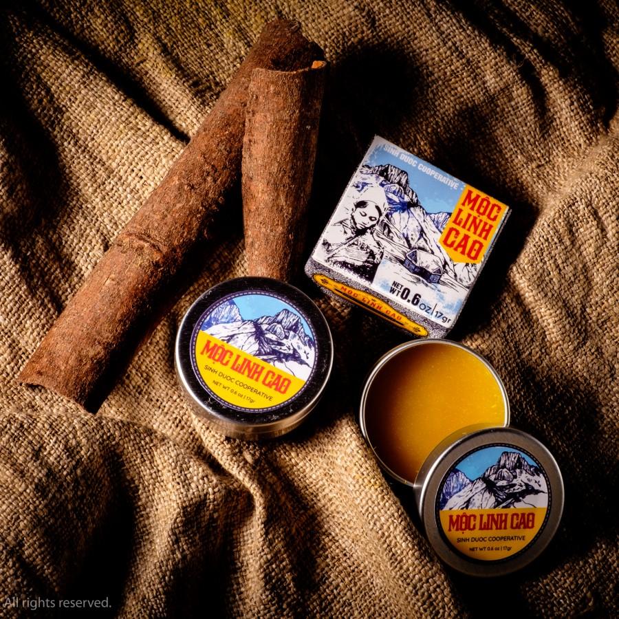 Hộp cao xoa bóp Mộc Linh Cao 100% từ thảo dược tự nhiên
