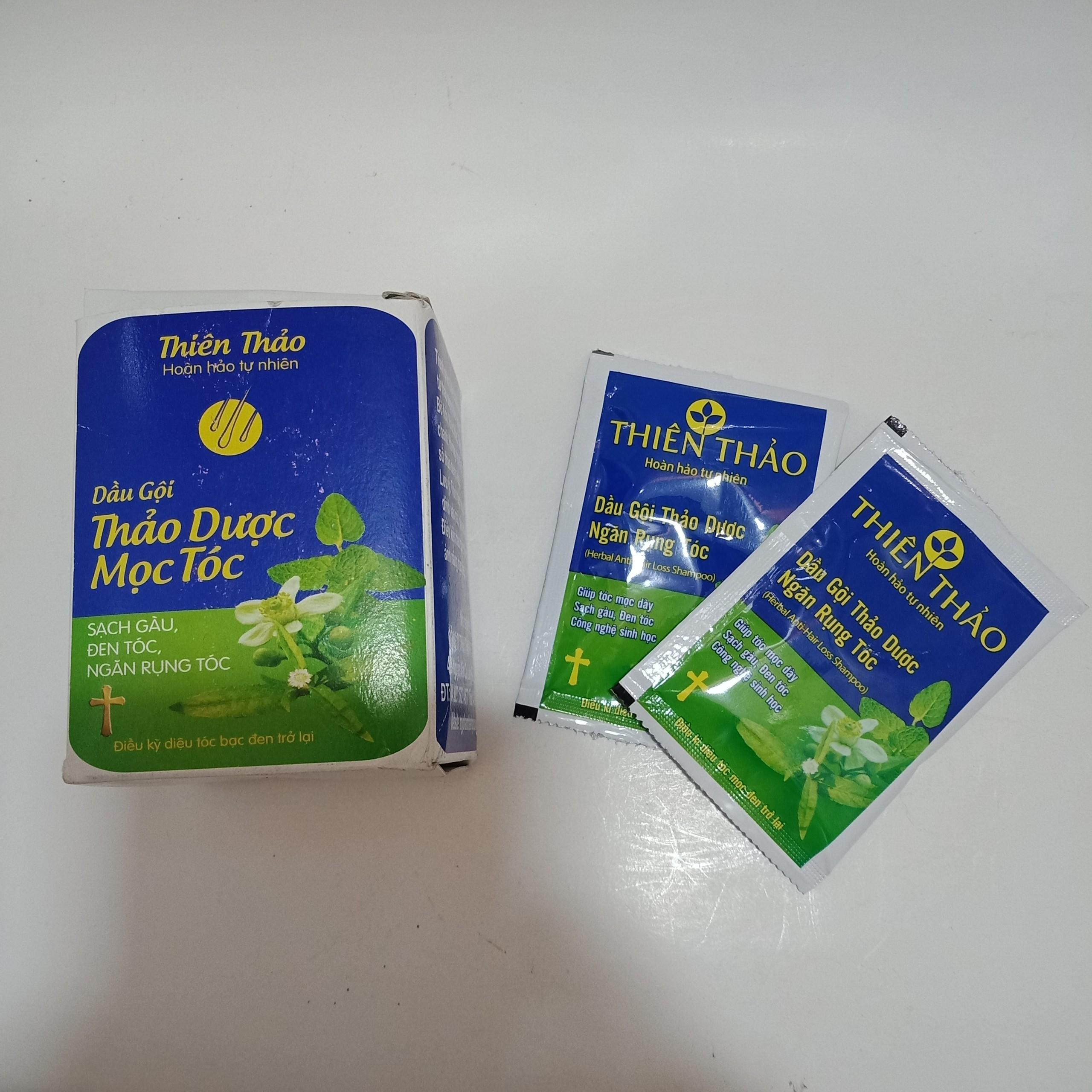 Dầu gội thảo dược Thiên Thảo-Hộp 10 gói 10ml