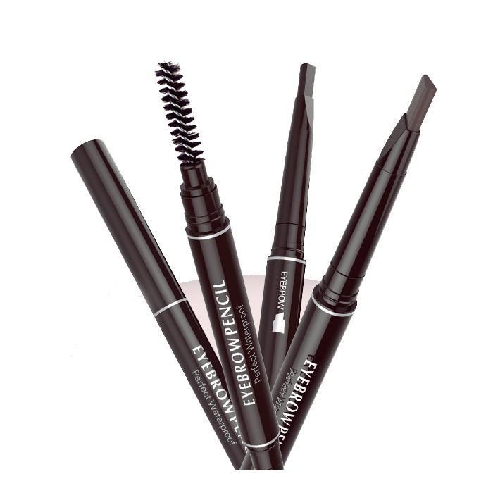 Chì kẻ lông mày hai đầu không thấm nước tiện dụng, bút kẻ chân mày lâu trôi hai đầu Eyebrow Pencil