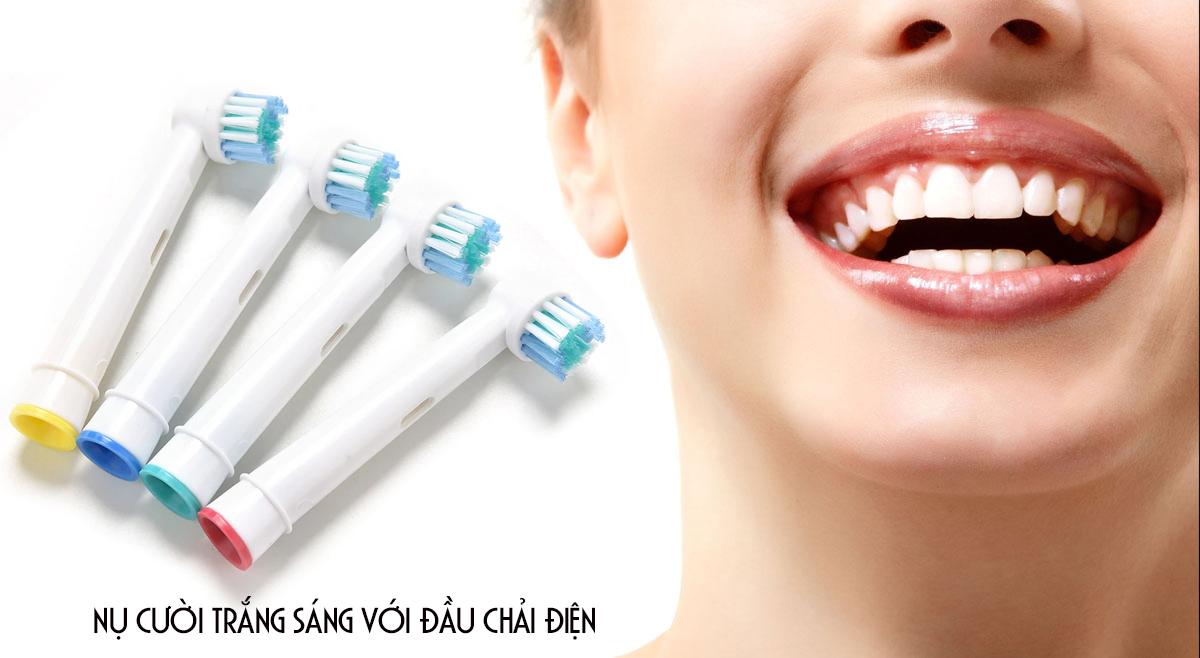 Bộ 4 đầu bàn chải điện cho máy Braun Oral B – Làm sạch khoang miệng, hết viêm nha chu – Tác động kép – Xuất xứ: Đức