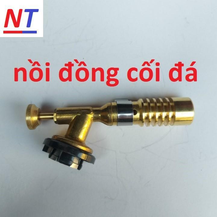 Đèn Khò Ga Mini Cầm Tay Đồng Nguyên Chất 100%
