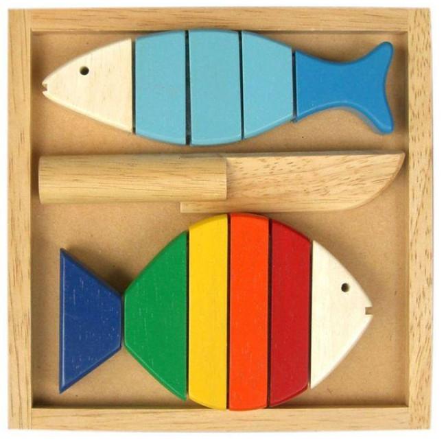 Đồ Chơi Gỗ - Bộ Cắt Hai Cá TG