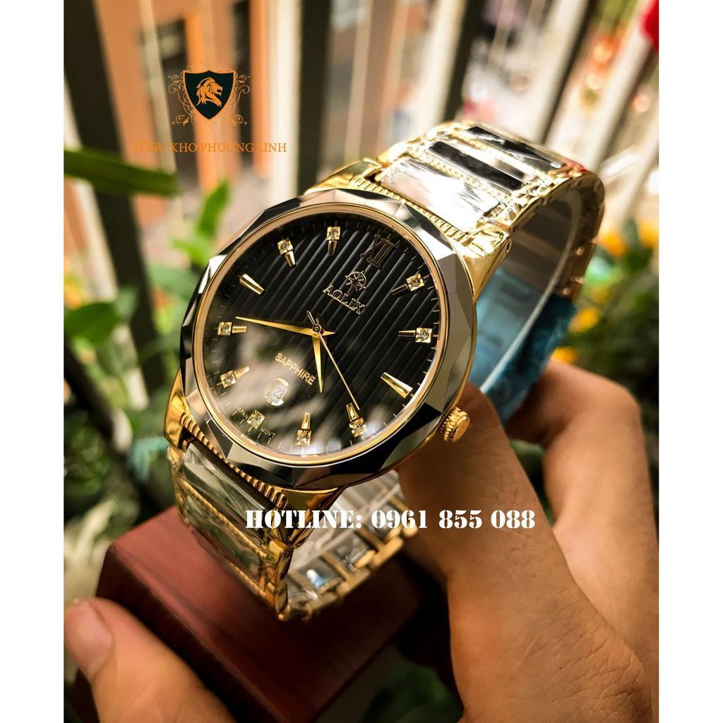 Đồng hồ aolix 6825 nam mặt kính saphire chống nước chống xước tuyệt đối