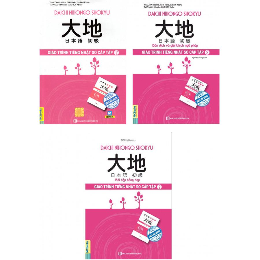 Combo 3 Cuốn Giáo Trình Tiếng Nhật Daichi Sơ Cấp Tập 2 ( Giáo trình + Bản dịch và giải thích ngữ pháp + Bài tập tổng hợp ) tặng kèm bookmark