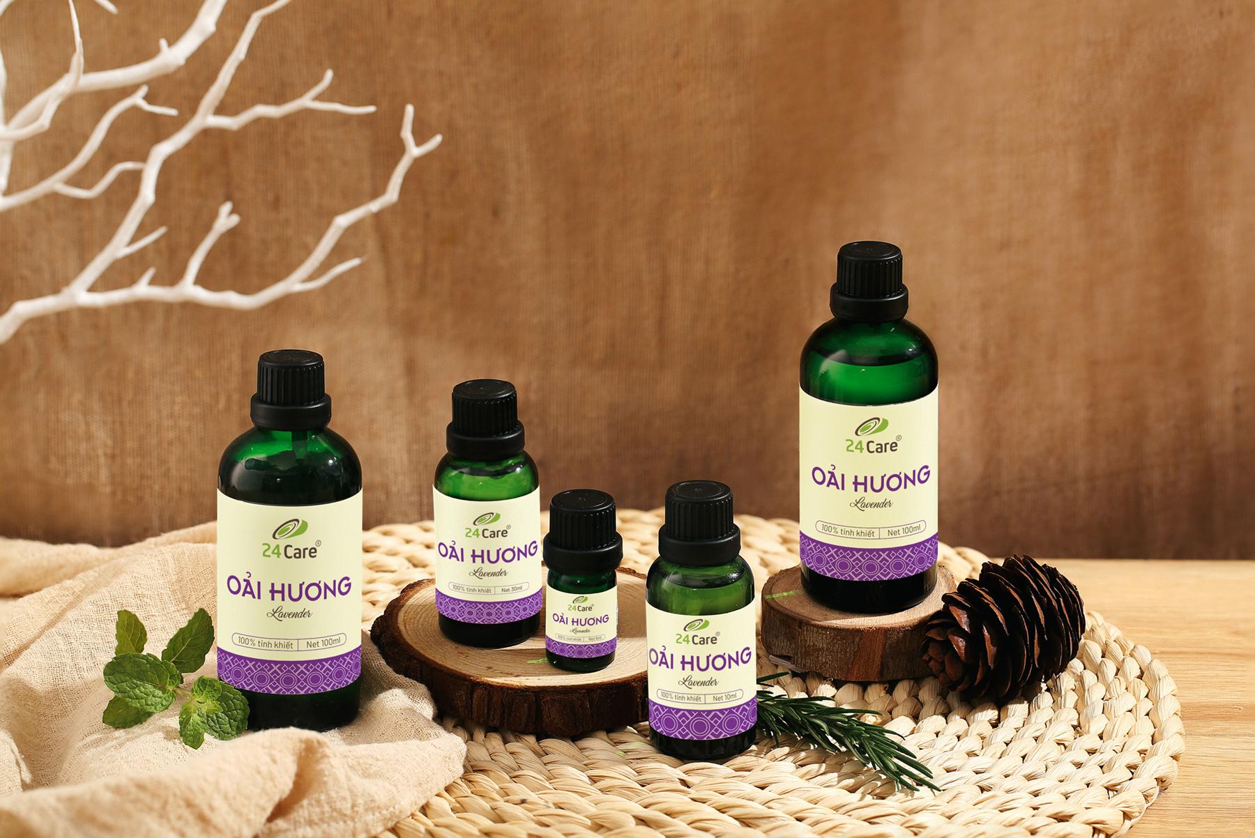 Tinh dầu Oải Hương 24Care - xông phòng giảm stress, lưu hương tốt, chiết xuất thiên nhiên
