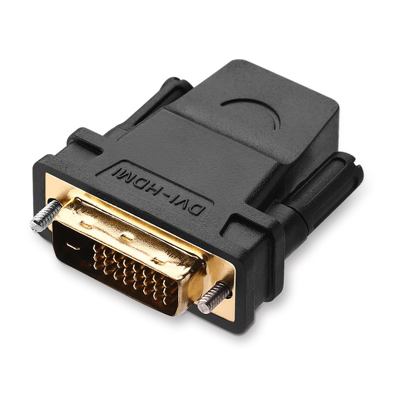 Đầu chuyển đổi DVI-D (24+1) cổng đực sang HDMI cổng cái UGREEN 20124 (màu đen) - Hàng Chính Hãng