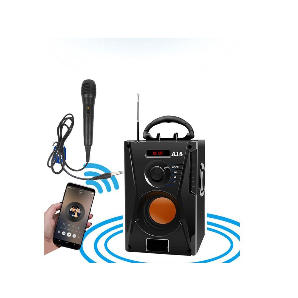 Loa bluetooth xách tay kèm mic A18 kết nối bluetooth nhanh