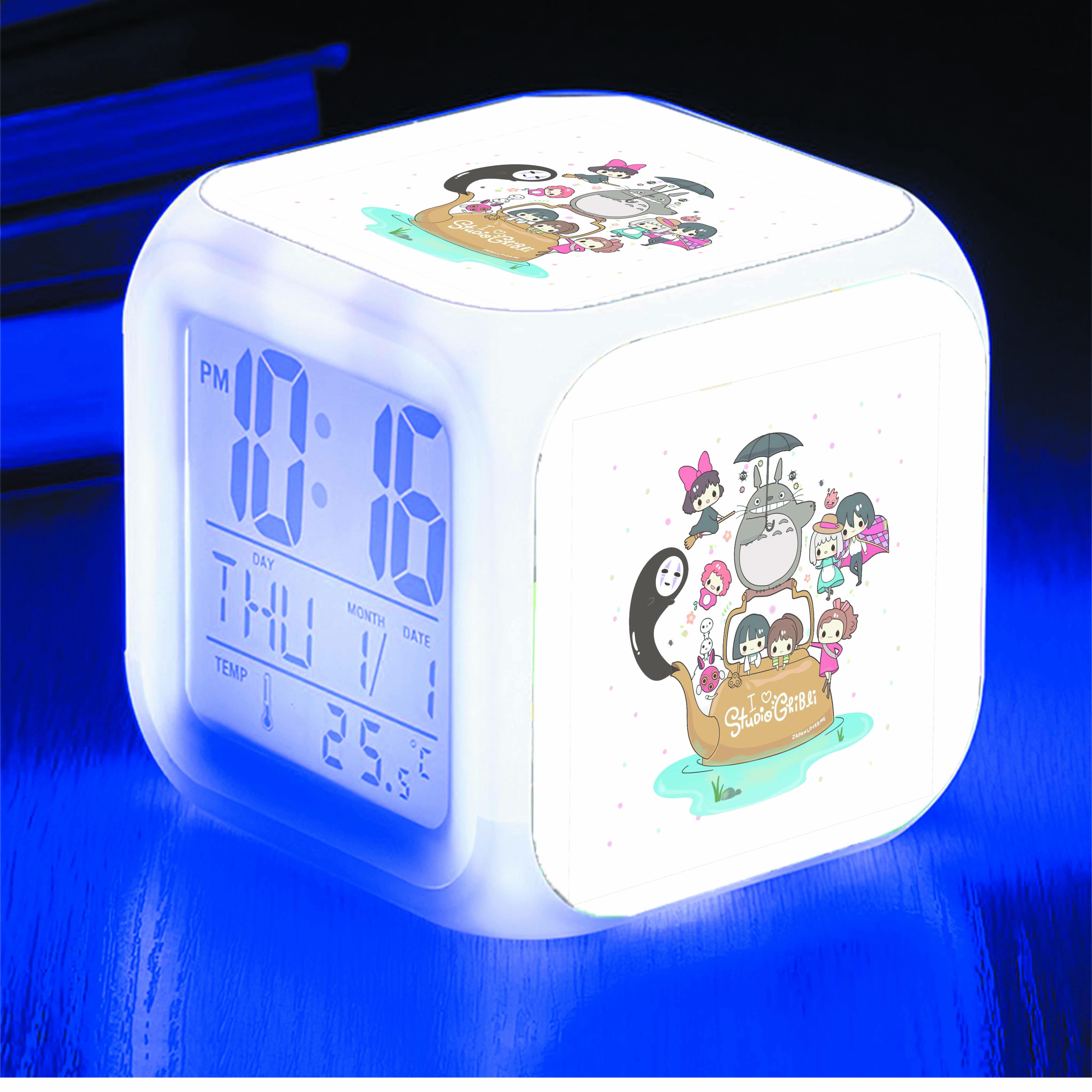 Đồng hồ báo thức để bàn IN HÌNH phim hoạt hình Ghibli