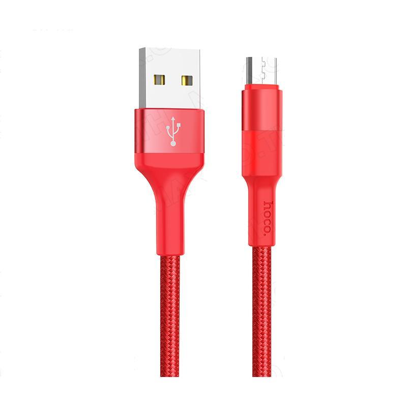Cáp sạc Micro USB dây dù chống đứt Hoco X26 1M - Hàng Chính Hãng