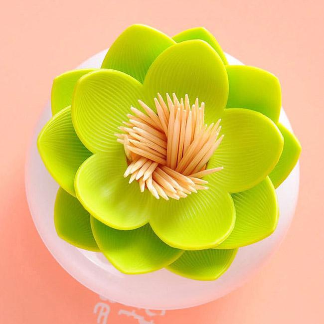 Ống đựng tăm, bông tai hình hoa sen (Mẫu ngẫu nhiên)