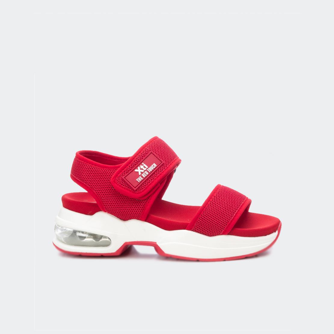 Giày Sandal Nữ Xti Red Textile Ladies Sandals