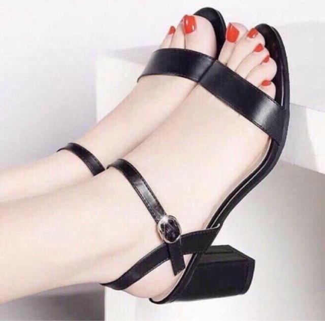 Giày sandal cao gót vuông 7p
