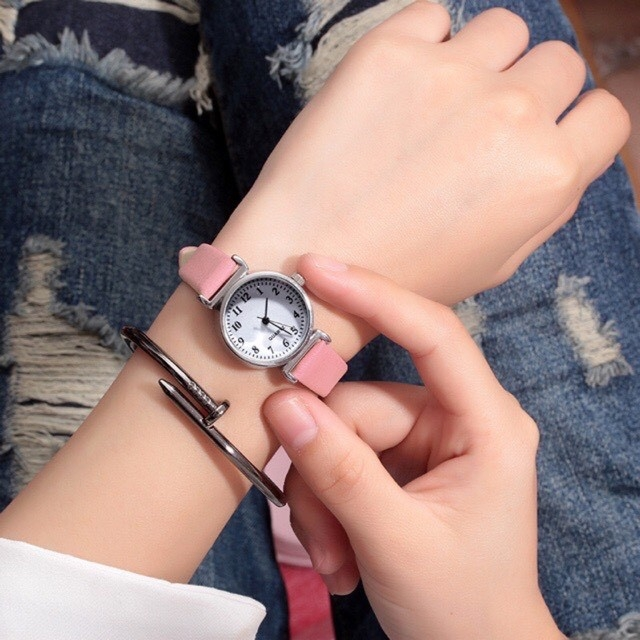 Đồng hồ nữ Jis mặt số nhỏ xinh thời trang Hàn Quốc (có video)