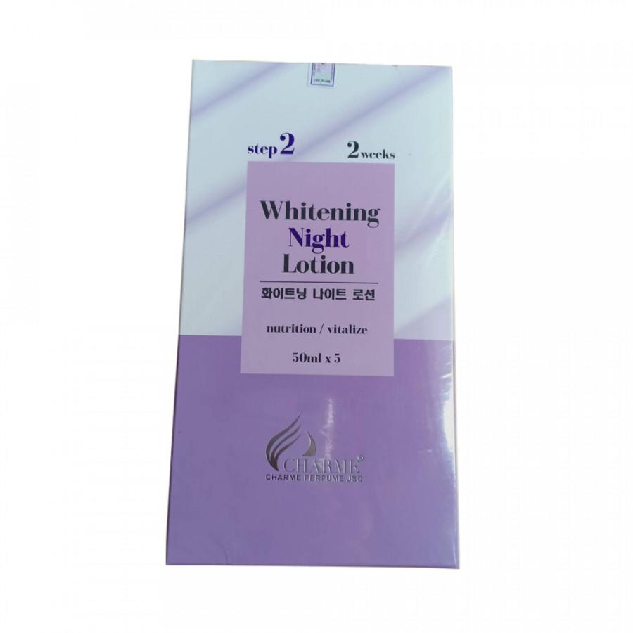 Dưỡng da body ban đêm whitening night lotion charme hàn quốc 250ml