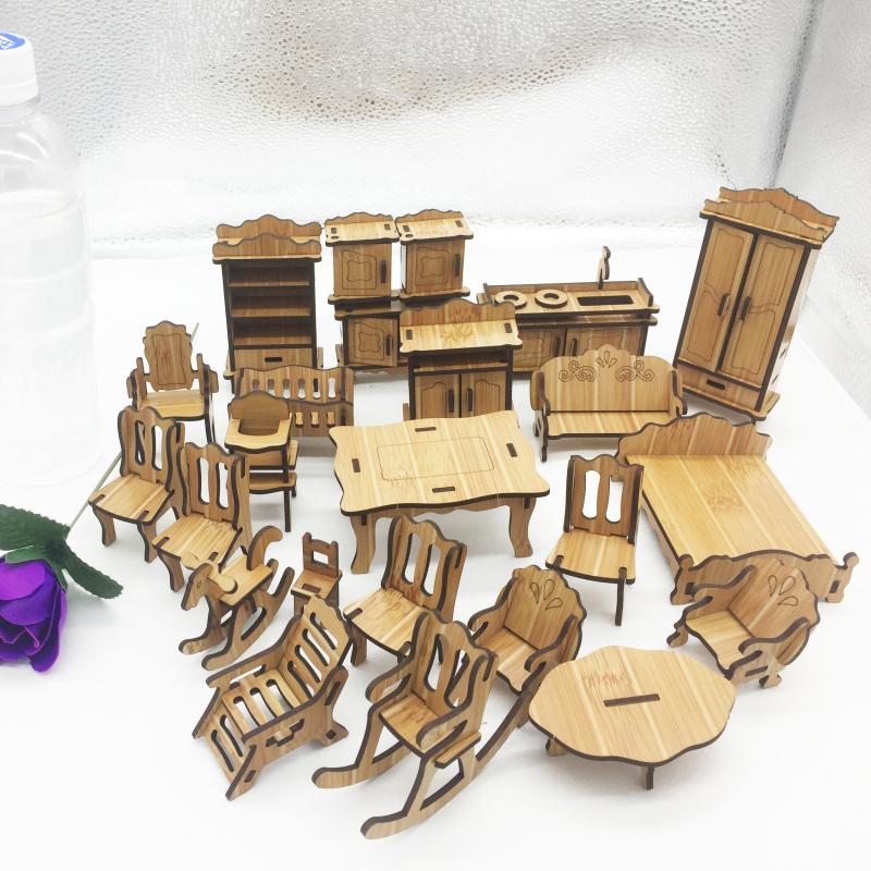 Đồ chơi lắp ráp gỗ 3D Mô hình Nội thất Laser R-9022