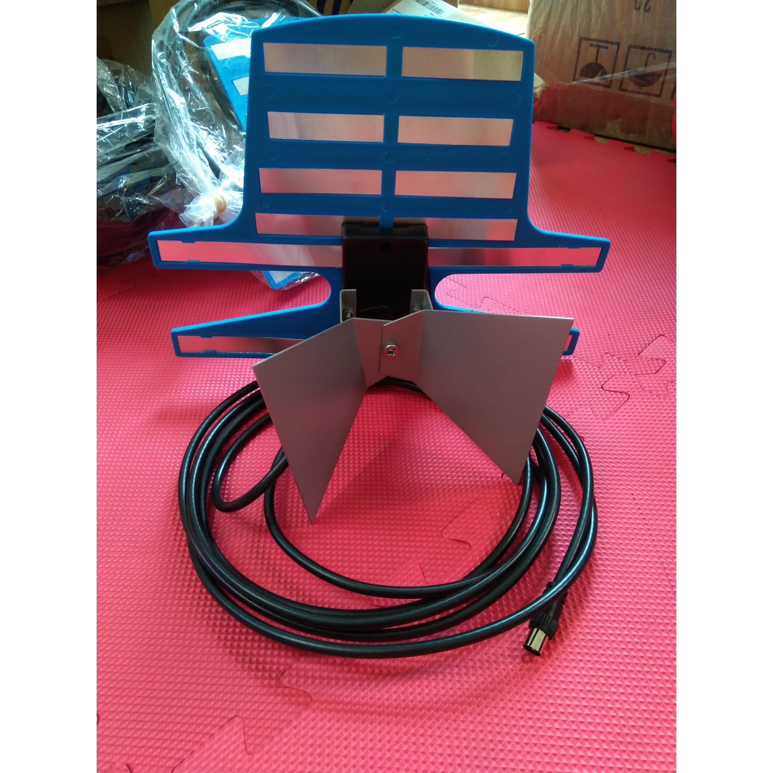 Anten Để Bàn cho Tivi và Đầu DVB T2 Thu Phát Sóng Tốt Kèm Dây Dài