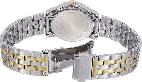 Đồng Hồ Citizen Nữ Đính Đá Swarovski Dây Kim Loại Pin-Quartz EU6034-55E - Mặt Đen (27mm)