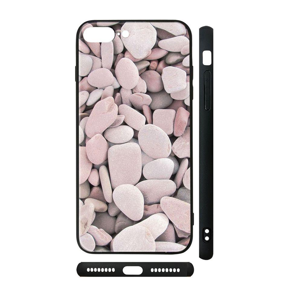 Ốp kính cho iPhone in hình vân đá - dah018 có đủ mã máy - iPhone XR