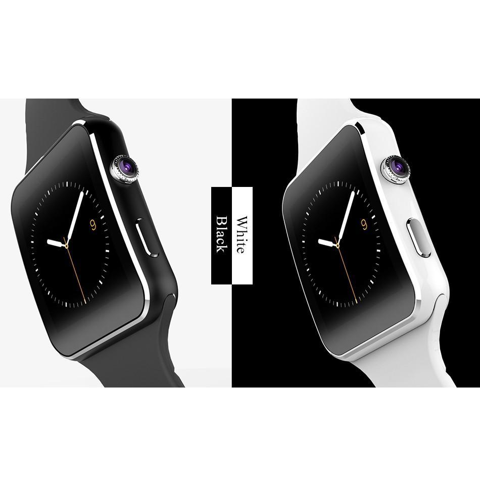 Đồng hồ thông minh X6 kết nối Bluetooth hỗ trợ thẻ SIM kèm cáp USB