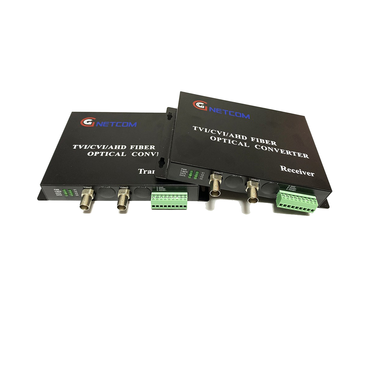Bộ chuyển đổi video sang quang 2 kênh GNETCOM HL-2V1D-20T/R-1080P (2 thiết bị,2 adapter,Cổng điều khiển) - Hàng Chính Hãng