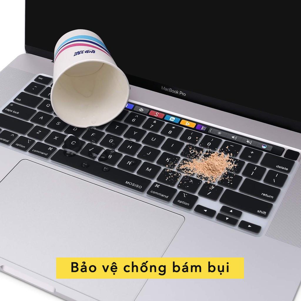 Phủ phím cho Macbook đủ dòng - Silicon màu đen chống nước, chống bám bụi bẩn