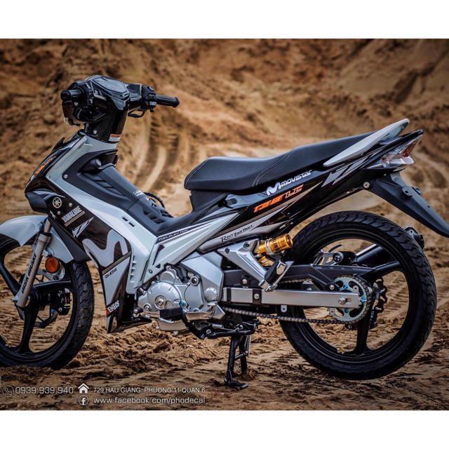 Tem dán dành cho xe máy Exciter 2009 mẫu Movistar Rời trắng đen (bộ)