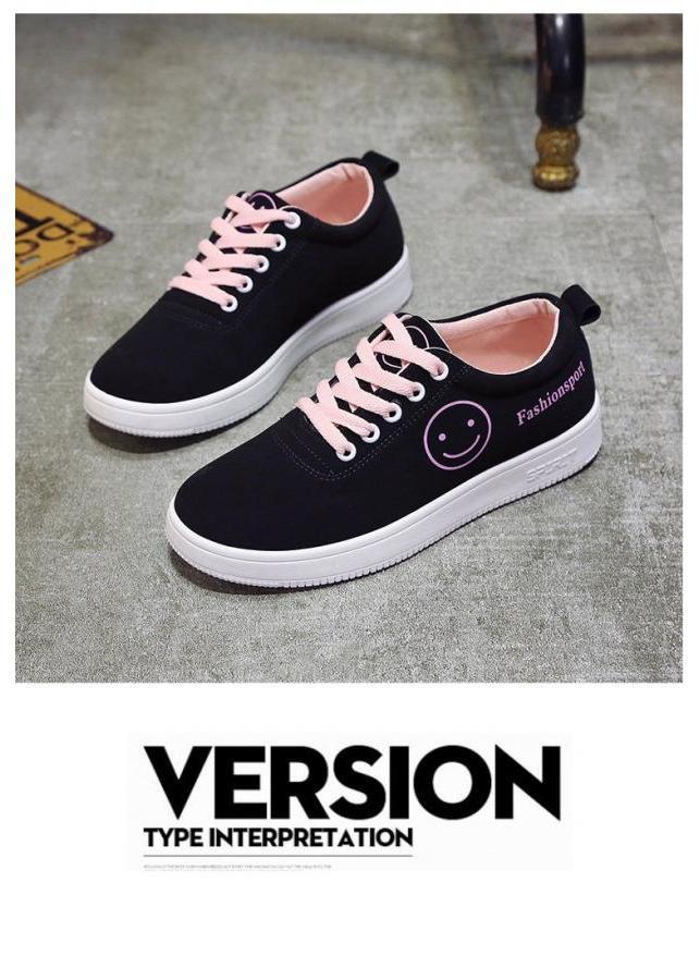 Giày Sneaker Thời Trang Nữ YAMET shop SN 55B29P Đen Phối Hồng