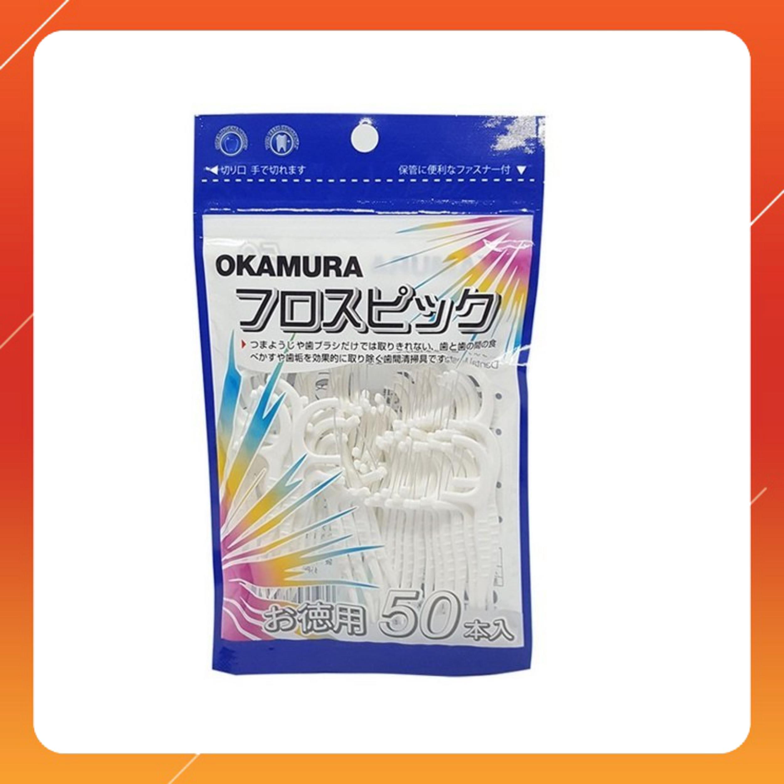 Combo 3 gói tăm chỉ nha khoa Okamura - 150 cây/3 gói