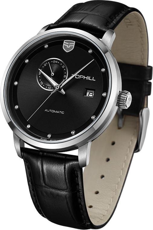 Đồng hồ nam dây da máy cơ tự động chính hãng Thụy Sĩ TOPHILL TW061G.PB1158