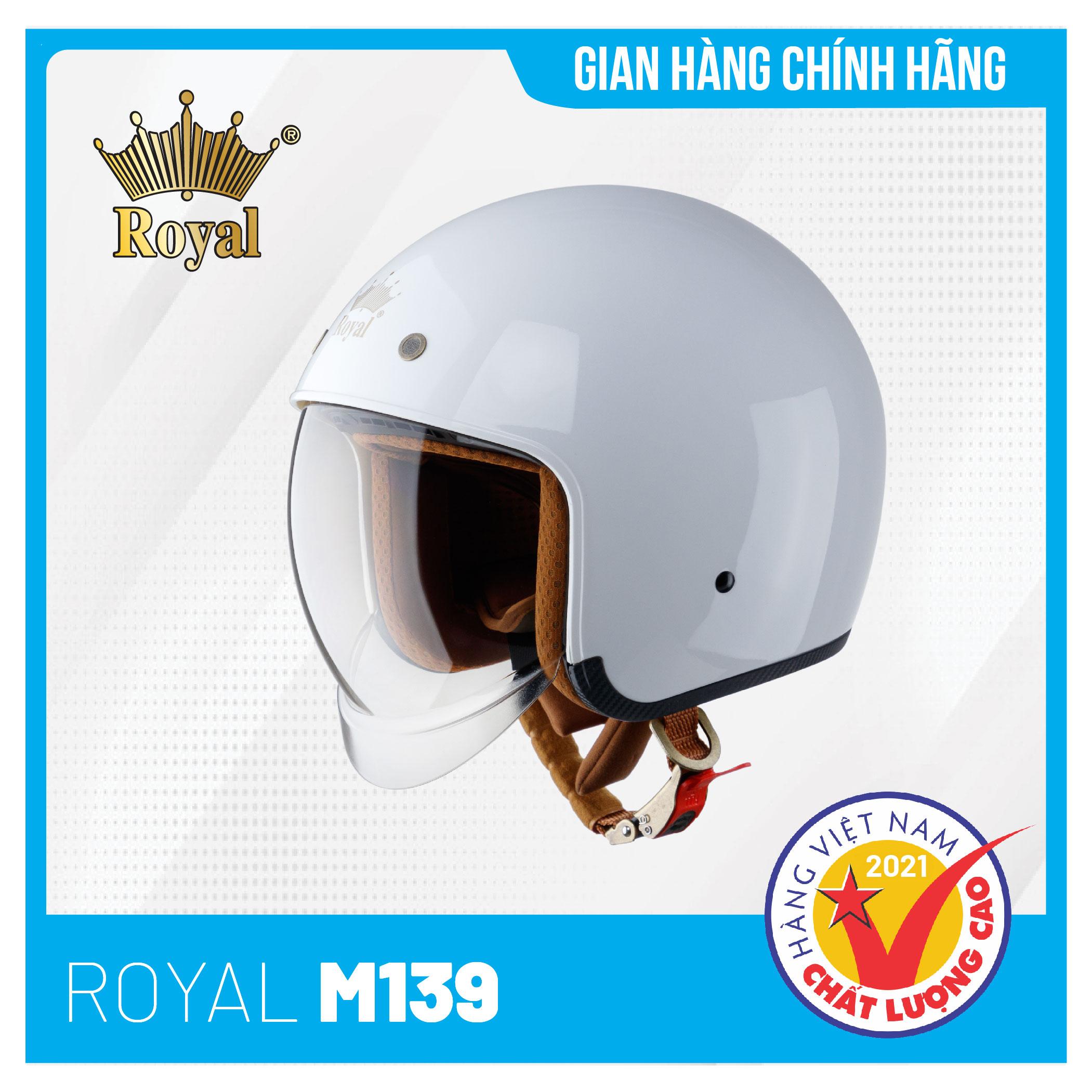Hình ảnh Mũ Bảo Hiểm 3/4 Đầu Royal M139