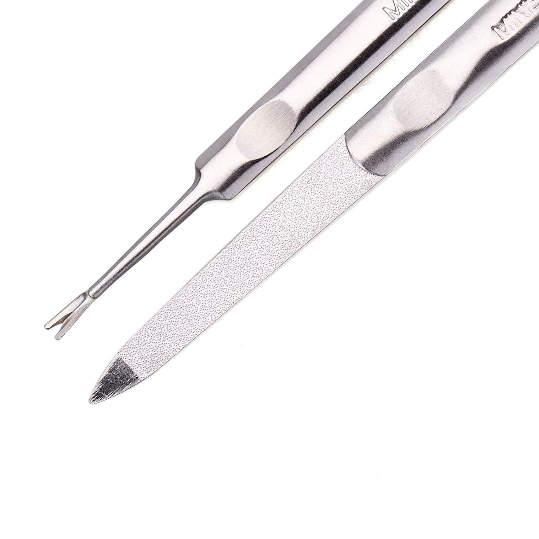 Bộ làm móng Nhật Bản 2 món ( dũa và cây lấy da chết quanh móng) MINISO Cuticle Trimmer Set - MNS072