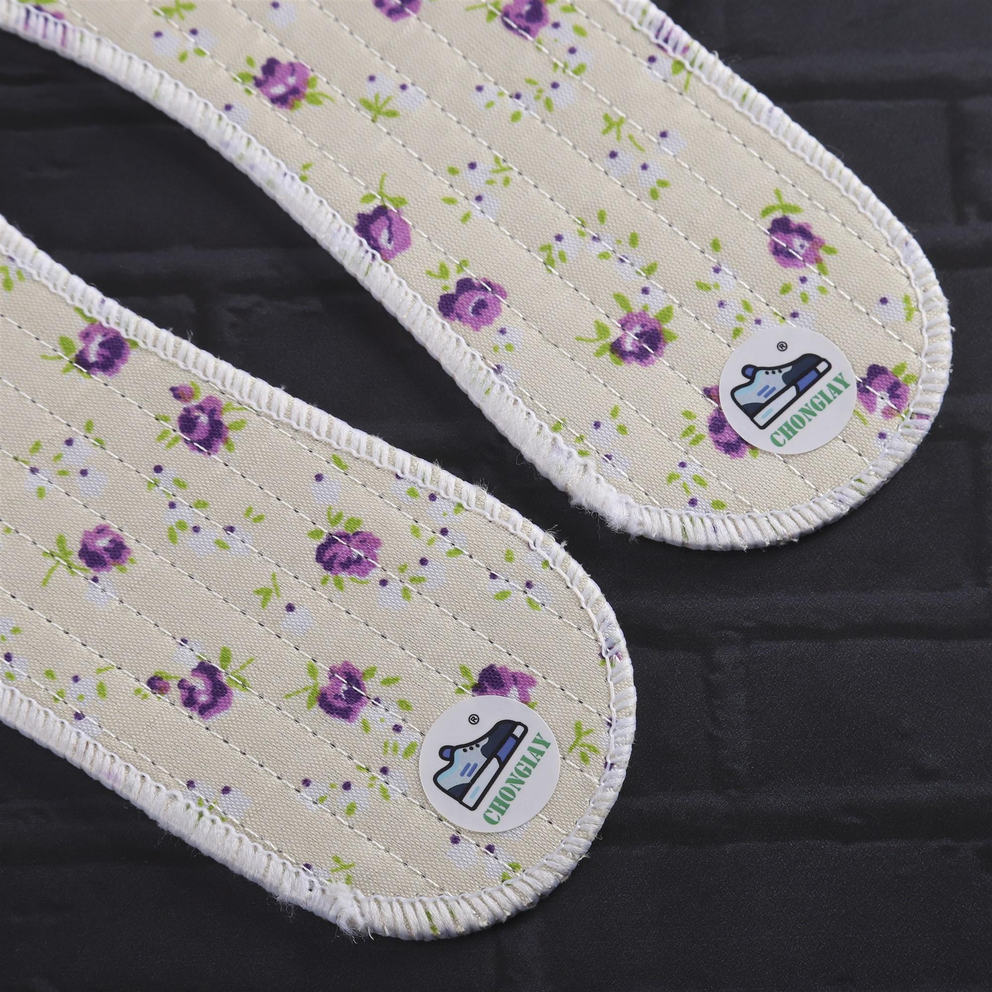 Cặp lót giày vải hoa LOT6 CHONGIAY êm chân hút ẩm cao