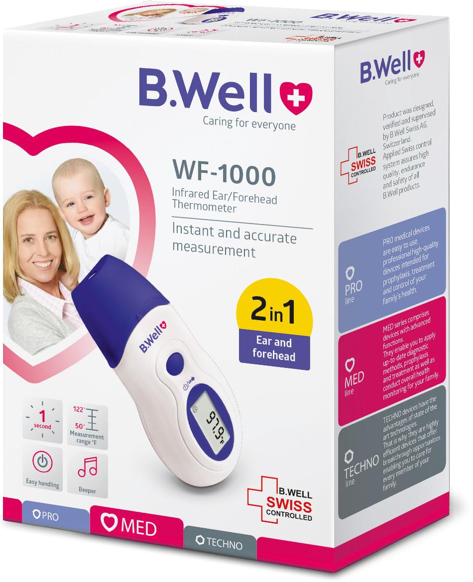 NHIỆT KẾ HỒNG NGOẠI B.WELL WF-1000 hàng chính hãng - nhập khẩu từ Thụy Sỹ lấy nhiệt độ trong vòng một giây